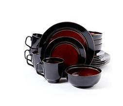 Gibson Studio Villa Mosa 16-Piece Dinnerware Set, Round with