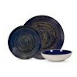 Mainstays Swirl 12-Piece Round Stoneware Dinnerware Set, Roy