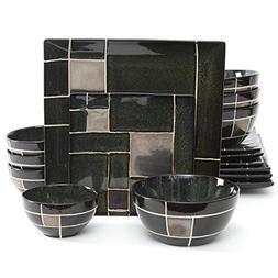 Gibson Tableware Plates Elite Azeal 16 Piece Double Bowl Din