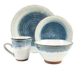 Sango Talia Dusk Blue 16 Piece Reactive Glaze Stoneware Dinn