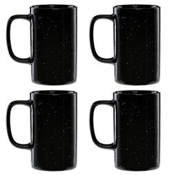 Culver 18-Ounce Tall Campfire Ceramic Mug Set of 4