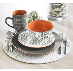 Tangiers 16 Piece Stoneware Dinnerware Set, Service for 4