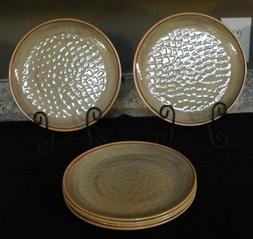 Food Network Taupe heavy duty plastic dinnerware looks like