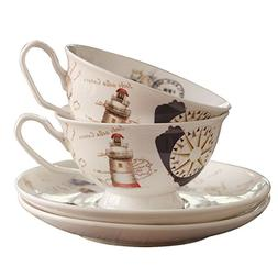 Tea Cups and Saucers Sets 2 Cup and Saucer sets
