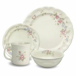 Pfaltzgraff Tea Rose 48 Piece Dinnerware Set, Service for 12
