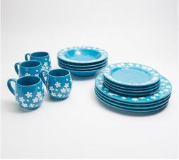 Temp-tations Fields of Flowers Essential Dinnerware  -Set of