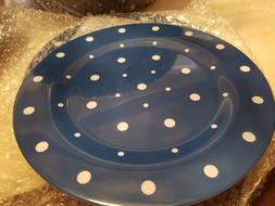 Temp-tations Navy Polka Dot 13 piece Entertaining Dining Set