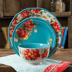 The Pioneer Woman Vintage Floral 12-Piece Dinnerware Set W