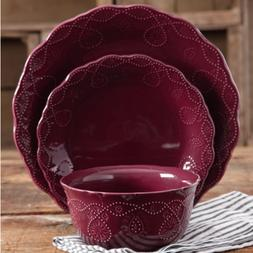 The Pioneer Woman Lace 12-Piece Dinnerware Set, Walmart Excl