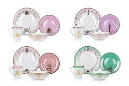 Disney Themed 16 Piece Ceramic Dinnerware Set Collection 2 |