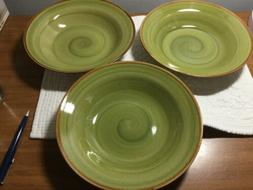 Thompson Pottery Amazon China soup / cereal bowls  -set of 3