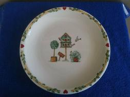 """Thompson Pottery Birdhouse Serving Dish 12.25"""" With Hearts a"""