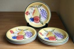 Thompson Pottery Italian Harvest Salad Plates 7 Fruit Grapes