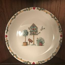 Thompson Pottery Set Of 4 Birdhouse Salad dessert plates bir