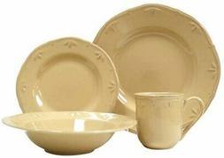 Thomson Pottery Sicily Caramel 4 Piece Dinnerware Set