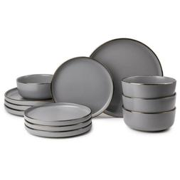 Thyme & Table Dinnerware Ava Stoneware, 12 Piece Set