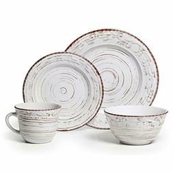 Pfaltzgraff Trellis White 16-Piece Dinnerware Set Vintage St