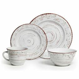 Pfaltzgraff Everyday Trellis White 48 Piece Dinnerware Set