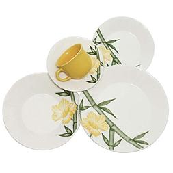 Oxford 20 Piece Tropical Collection Biona Dinnerware Set