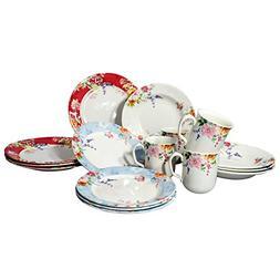 Tudor 16-Piece Porcelain Dinnerware Set, Service for 4 - CRI