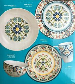 222 Fifth Tunisia 20 Piece Porcelain Dinnerware Set Service