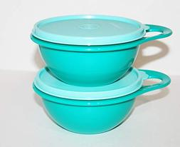 Tupperware Extra Mini Thatsa Bowl Set of 2 Teal