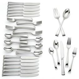 Lenox Urbane 74 Piece Flatware Set Service For 12 Stainless