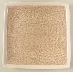 "Sango Vega Taupe 10.75"" Square Dinner Plates, Set of 4"