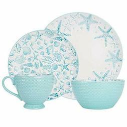 Pfaltzgraff Venice 16-Piece Stoneware Dinnerware Set, Servic