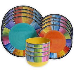 12-Piece Vibrant Colorful, Durable, Practical and Stylish Di