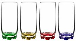vibrant splash water beverage highball glasses 13