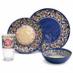 Pfaltzgraff Villa Della Luna Melamine Outdoor Dinnerware Set