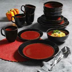 Gibson Studio Villa Mosa 16-Piece Dinnerware Set, Stoneware