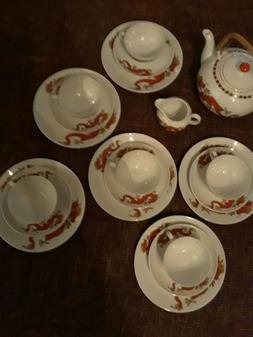 Villeroy &boch Red Dragon Tea Set New