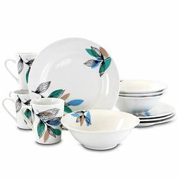 Gibson Home Vineyard Fine Ceramic Dinnerware Set 12 Piece