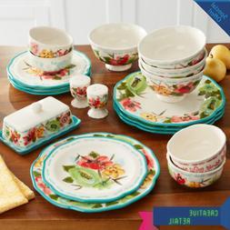 The Pioneer Woman Vintage Bloom 20-Piece Dinnerware Set Vint