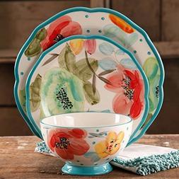 vintage bloom decorated dinnerware set