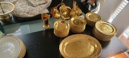 Vintage China Dinnerware set Lady Hamilton 22k Warrented Gol