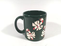 Waechtersbach Vintage Holiday Mug Embossed Candy Cane Enamel
