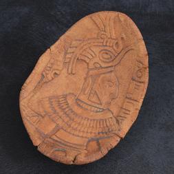 Vintage MID Century STONEWARE Art Pottery BOWL Aztec MAYAN S