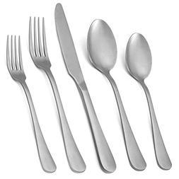 Vintage Silverware Set,20-Piece Stainless Steel Silver Grey