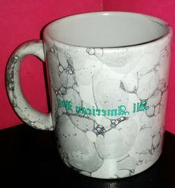 "Vintage Waechtersbach W Germany Grey Marbled ""ALL AMERICAN B"