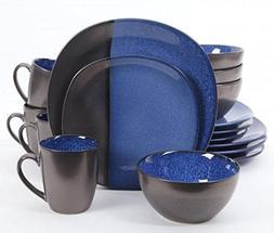 Gibson Elite Volterra Cobalt 16-Piece Dinnerware Set