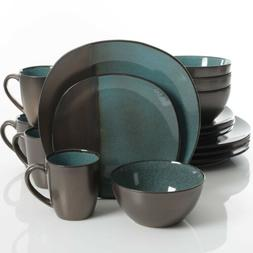 Gibson Elite Volterra 16 Piece Dinnerware Set, Teal