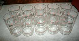 VTG 10 Corelle Coordinates FOREVER YOURS Glasses Tumblers Gl