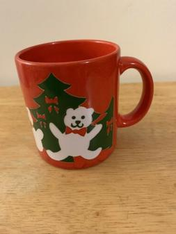 Waechtersbach W. Germany White Bear Christmas Tree Mug Cup
