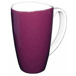 Wavy Rim Ceramic 17.5-oz Purple Mugs