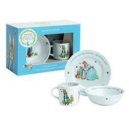 Wedgwood Boy's Peter Rabbit 3-Piece Plate, Bowl and Mug Set,