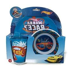 Hot Wheels 3 Piece Dinnerware Set