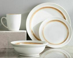 Mint Pantry White & Gold 16-Piece Dinnerware Set Service for